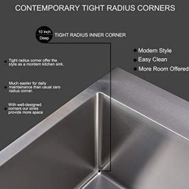 Commercial-28-inch-16-Gauge-Top-mount-Drop-in-Single-Bowl-Basin-Handmade-T304-Stainless-Steel-Kitchen-Sink-10-Inch-Deep-Brushed-Nickel-Kitchen-Sinks