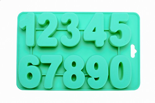 Silicone Number Trays Mold by Traytastic! - Large 1.75' Tall Numbers