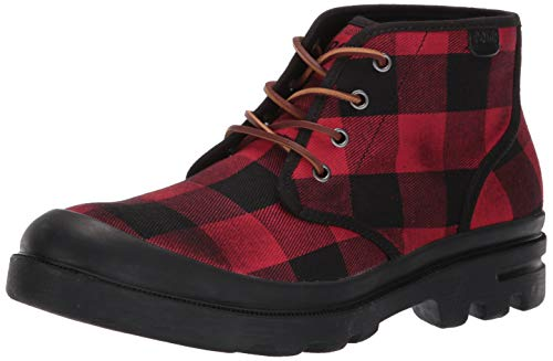 Polo Ralph Lauren Men's UMAR Ankle Boot, red/Black, 10.5 D US