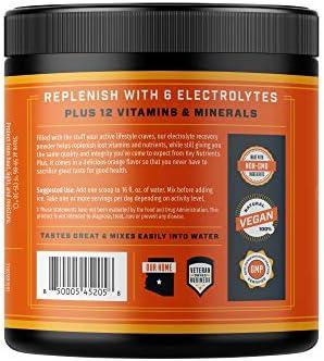 Electrolyte Powder, Orange Hydration Supplement: 90 Servings, Carb, Calorie & Sugar Free, Delicious Keto Replenishment Drink Mix. 6 Key Electrolytes - Magnesium, Potassium, Calcium & More. 5