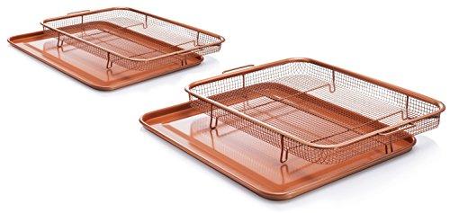 GOTHAM STEEL Crisper Tray Set - Regular-sized and Large-sized