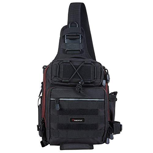 Piscifun Water-Resistant Outdoor Tackle Bag Single Shoulder Fishing Tackle...