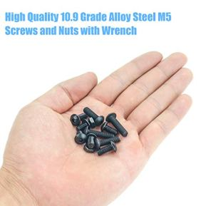 DYWISHKEY-150-Pieces-M5-x-8mm10mm12mm16mm20mm-109-Grade-Alloy-Steel-Hex-Button-Head-Cap-Bolts-Nuts-Kit-with-Hex-Wrench