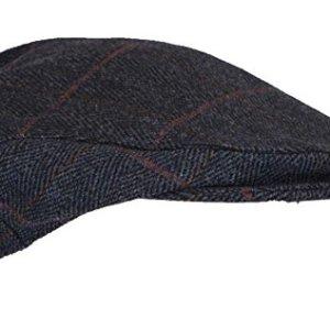 d754cea247b Walker and Hawkes Unisex Derby Tweed Flat Cap Hunting Shooting Countrywear  Hat – Navy Tweed