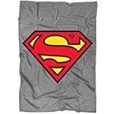 """Funny Superman Logo Blanket for Bed and Couch, The Man of Steel Blankets - Perfect for Layering Any Bed (Large Blanket (80""""x60""""))"""