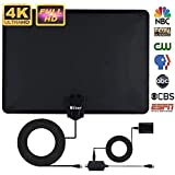 Skywire TV Antenna,Mibor Indoor Digital HDTV Antennas Amplified 150 Mile Range 4K HD VHF UHF Freeview for Life Local Channels Broadcast (wrtx)