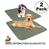 CLASSIC Millie Mats Washable Dog Pee Pads (2 Pack) for Puppies, Incontinent & Senior Dogs. Size 28' x 31' Leak Proof to Protect Floors, Car, Keep Crate Easy to Clean. Indoor Puppy Potty Pad 28'X31'