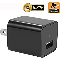 Motion Detection AC Wall Plug Adapter,CAMXSW 1080P HD USB Wall Charger Hidden Spy Wall Camera Nanny Spy Camera Adapter With 32GB Internal Memory