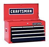 Craftsman 6 Drawer Heavy Duty Top Tool Chest, All Steel Construction & Smooth Glide Drawers