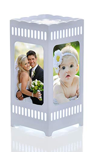 Gift&love Night Lamp & Pictures Frame. Great For Unique Present-Birthday- Wedding-Anniversary-Graduation-Housewarming- Baby Shower Gift- Family Photos-Children's Room-Living Room-Office-Friend-Holiday