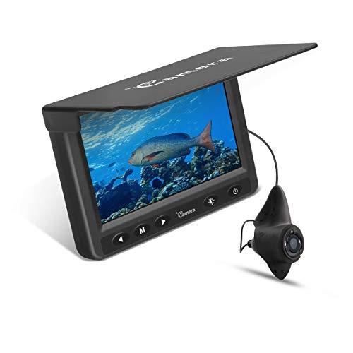 Moocor Underwater Fishing Camera, Portable Fish Finder Camera HD 1000 TVL Infrared LED Waterproof Camera with 4.3 Inch LCD Monitor for Ice Lake Sea Boat Kayak Fishing