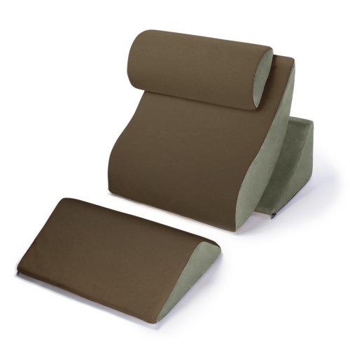 Avana Kind Bed Orthopedic Support Pillow Comfort System, Mocha/Sage, Complete Comfort System