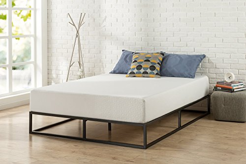 Modern Studio 10 Inch Platforma Low Profile Bed Frame/Mattress Foundation/Boxspring Optional/Wood Slat Support, Queen