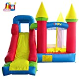YARD Bounce House with Slide 0.4mm Vinyl Extra Thick Bouncing Floor Inflatable Jump Castle for Kids w/ Heavy Duty Blower