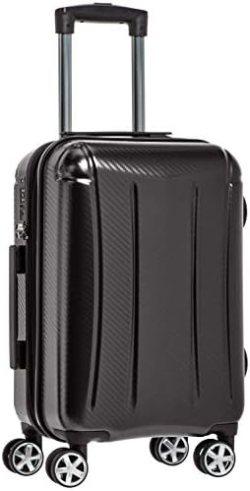 Amazon Basics Oxford Carry-On Expandable Spinner Luggage Suitcase with TSA Lock – 21.8 Inch, Black