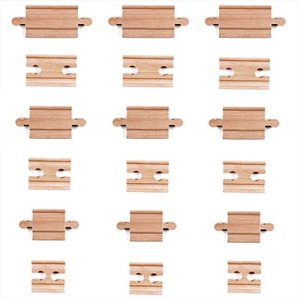 Tiny Conductors 18 Piece Wooden Train Track Connectors & Adapters, 100% Real Wood Male-Male & Female-Female Pieces, Compatible with Thomas and Major Brands Wooden Toy Railroad Sets, (18-Piece) 412LbNYxGNL