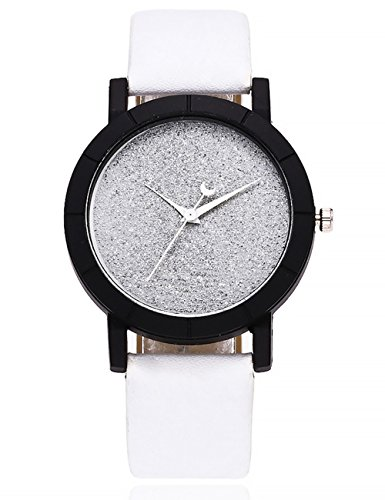 412M3R4q6jL Display:Analog. Band Material:Leather. Style:star. Movement: Quartz.Dial Window Material:Glass.Case Material:Alloy.Dial Material:Stainless Steel. Dial Diameter:3.9CM.Case Thickness:8.8mm.Band Width:1.9CM.Band Length:24CM. A classic look, this fashion analog quartz wrist watch is specially designed with metal case and leather band