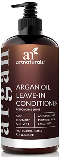 ArtNaturals Argan Oil Leave-In Conditioner - (12 Fl Oz / 355ml) - Made with Organic and Natural Ingredients - for All Hair Types - Treatment for Damaged, Dry, Color Treated and Hair Loss