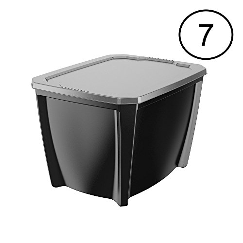 Life Story Black 20 Gallon Storage Tote (7 Pack)