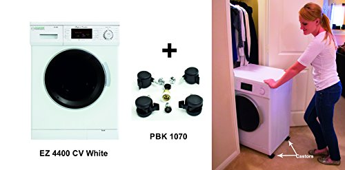 Equator All-in-one Compact Combo Washer Dryer 1200 RPM spin, Auto water level, Sensor Dry Optional Venting/Condensing with Portability Kit, White