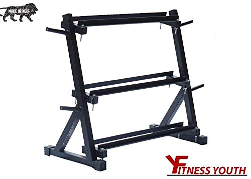 FITNESS-YOUTH-3-Tier-Easy-Grab-Dumbbell-Stand-Standard-Weight-Multilevel-Weight-Storage-Organizer-for-Home-Gym-600-Pound-Capacity-BlackLarge