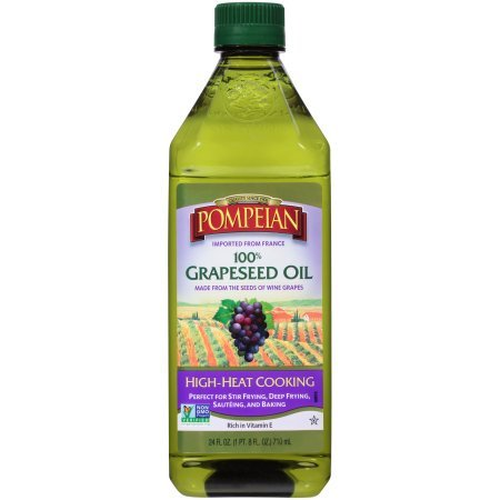 POMPEIAN 100% GRAPESEED OIL High-Heat Cooking (1-24 oz Bottle)