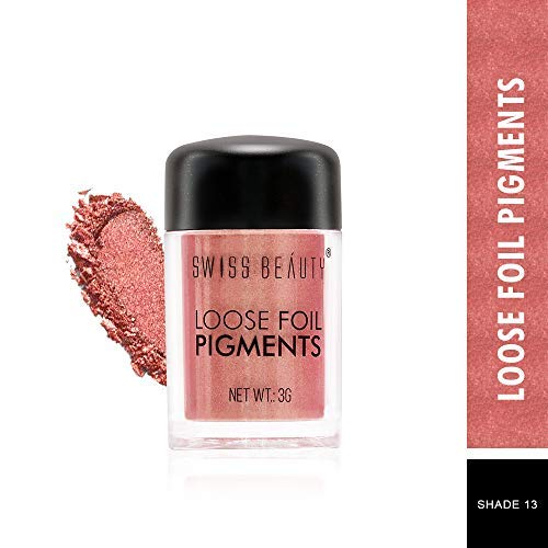 412QdO1uhML Swiss Beauty Loose Foil Pigments Eyeshadow, Eye MakeUp, Shade-13, 3g