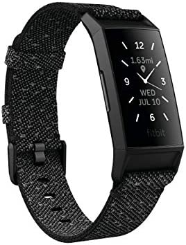 Fitbit Charge 4 Special Edition Fitness and Activity Tracker with Built-in GPS, Heart Rate, Sleep & Swim Tracking, Black/Granite Reflective, One Size (S &L Bands Included) 3
