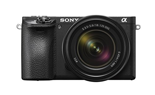 """Sony a6500 Mirrorless Camera with 18-135mm Lens with LCD, 3"""", Black"""
