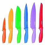 Cuisinart C55-01-12PCKS Advantage Color Collection 12-Piece Knife Set, Multicolor