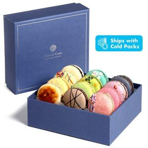 Kayla's Cake Premium French Macarons Cookies Gift Baskets Gourmet Chocolate Box Food Desserts Birthday Snack Care Packages College Students Holiday Christmas Thank You Macaroon Women Men Classic 12 412WDtMUE5L