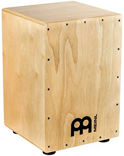 Meinl Cajon Box Drum with Internal Metal Strings for Adjustable Snare Effect - NOT MADE IN CHINA - Hardwood Full Size, 2-YEAR WARRANTY HCAJ1NT