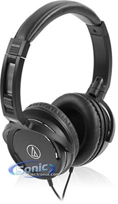 Audio Technica Portable Headphones with Microphone for iPod/iPhone/iPad (Black)