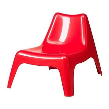 Ikea Ps Vago Fauteuil Extérieur Rouge Amazonfr
