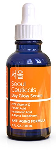 Korean Skin Care K Beauty - 20% Vitamin C Hyaluronic Acid Serum + CE Ferulic Acid Provides Potent Anti Aging, Anti Wrinkle Korean Beauty 1oz 1
