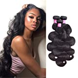 Original Queen Brazilian Body Wave 100% Unprocessed Virgin Human Hair 8A Grade 3 Bundles Weaves Natural Color 10 12 14 Inches