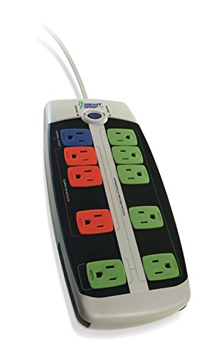 Smart Strip LCG-3MVR Energy Saving Surge Protector with Autoswitching Technology, 10-Outlet