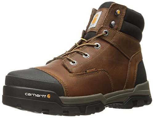 Carhartt Men's Ground Force 6-Inch Brown Waterproof Work Boot - Soft Toe- New For 2017 - CME6055