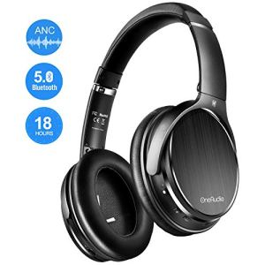 OneOdio Active Noise Cancelling Bluetooth Headphones with Mic, Wireless Wired Comfortable Foldable Stereo Over Ear Headphones with Hi-Fi Sound for Airplane Travel Work TV PC Phone Computer