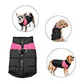 Didog Cold Weather Dog Warm Vest Jacket Coat,Pet Winter Clothes for Small Medium Large Dogs,8, Pink,L Size