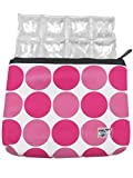 Neoprene Insulated Pouch and Ice Mat for Insulin, Medicine and Lipstick - TSA Compliant (Pink Dot) by Icy Cools