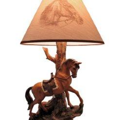 Saddled Horse Table Lamp