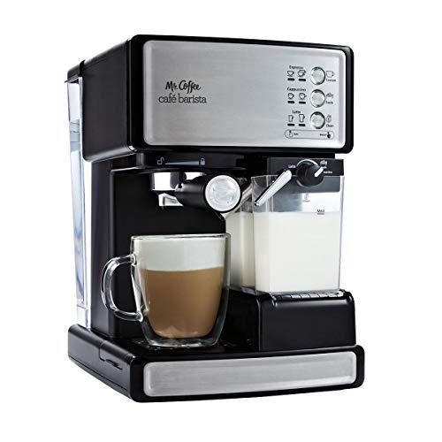 Mr. Coffee Cafe Barista Black & Silver Espresso Maker