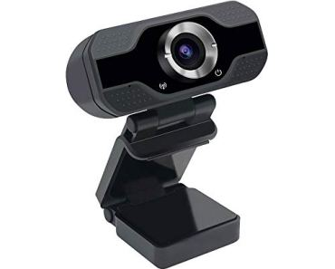 VeeDee 1080P Webcam , USB 2.0 Desktop Laptop Computer Web Camera with Auto Light Correction, Plug and Play with Microphone, for Windows Mac OS, Video Streaming, Online Classes 2 Mega Pixels