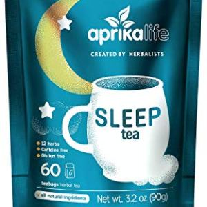 AprikaLife – Sleep Tea with Sleep Guide, 100% Natural Herbal Tea with 12 Herbs Created by Herbalists, Promotes…