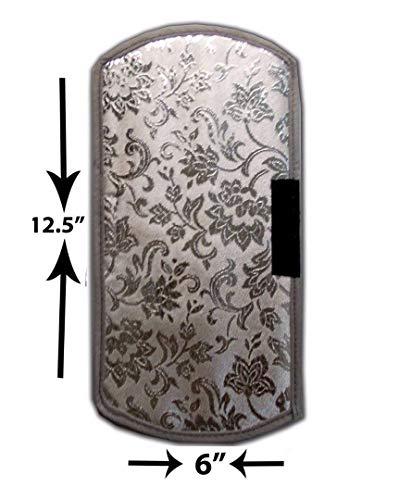 412mOdjN7tL Unique Productions Rexene Silver Fridge Top Cover + 2 Fridge Handle Set (21 X 42 Inches)