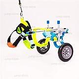 Jump Adjustable Dog Pet Wheelchair for Hind Legs Rehabilitation, 2 Wheels Dog Cart Wheels (XXS)