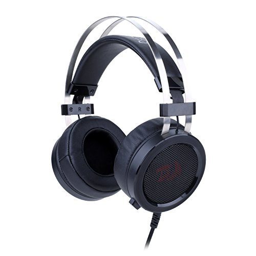 Redragon H901 Gaming Headset with Microphone for PC, PC Gaming Headphones with Mic and Built-in Noise Reduction Works with PC, Laptop, Tablet, Playstation 4, PS4, Xbox One (Stereo Adapter Included)