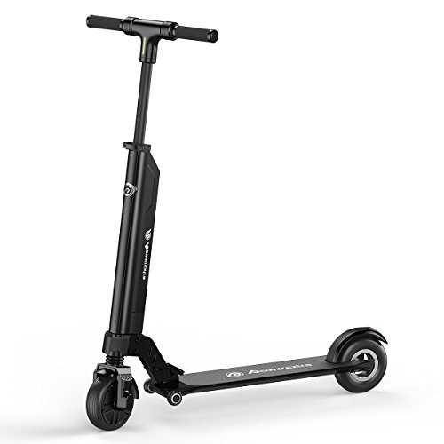 Powerextra Adult Electric Scooter, 9.5 Miles Long-Range Battery, Up to 18.6 MPH, Easy Fold-n-Carry Design and Ultra-Lightweight for Teen (APP Version)