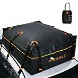 KING BIRD 2019 Upgraded 100% Waterproof Roof Bag with External Non-Slip Mats, 20 Cubic Feet Heavy Duty Car Top Cargo Carrier with Built-in Protective Mat Fits All Cars with/Without Rack